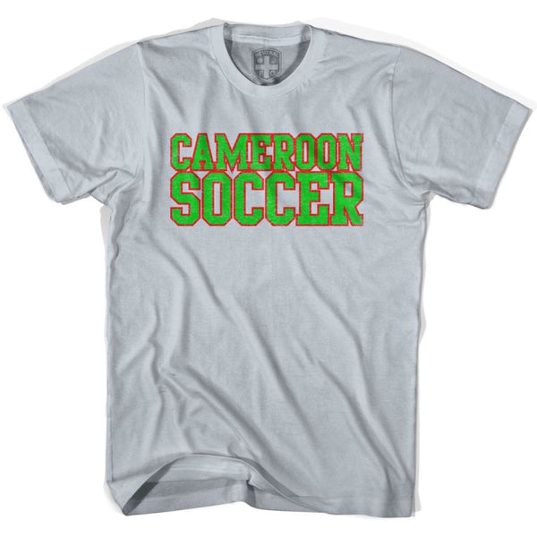 Cameroon Soccer Nations World Cup T-shirt - Silver / Youth X-Small - Ultras Soccer T-shirts