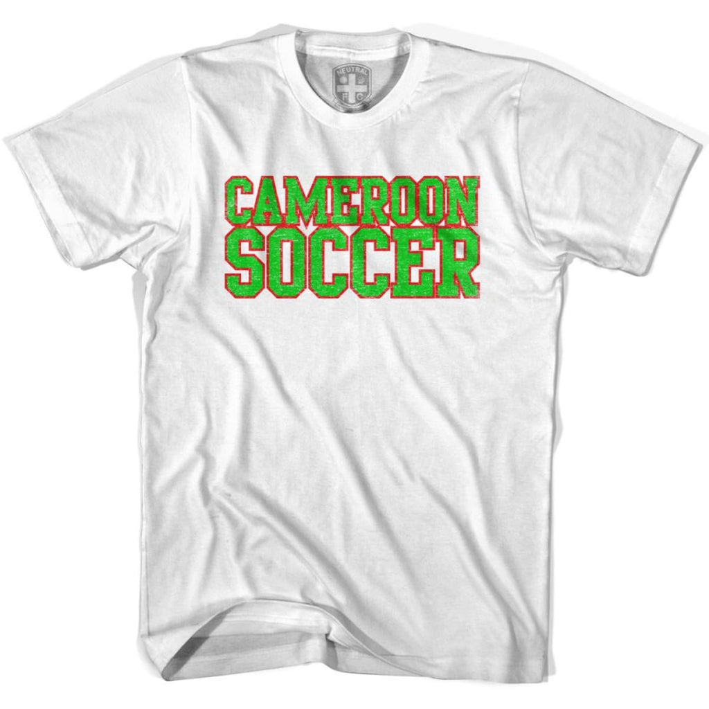 Cameroon Soccer Nations World Cup T-shirt - White / Youth X-Small - Ultras Soccer T-shirts