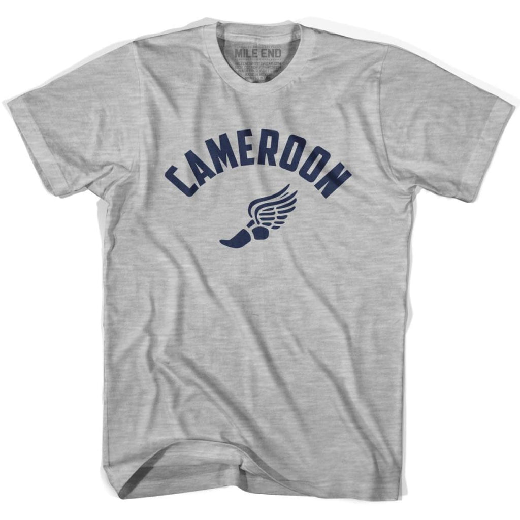 Cameroon Track T-shirt - Grey Heather / Youth X-Small - Mile End Track