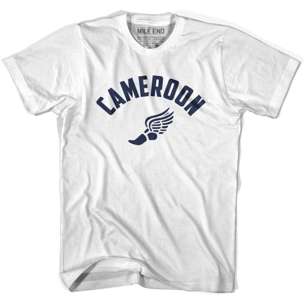 Cameroon Track T-shirt - White / Youth X-Small - Mile End Track