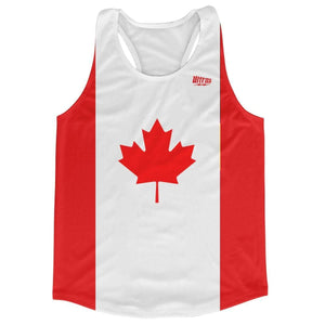 Canada Country Flag Running Tank Top Racerback Track and Cross Country Singlet Jersey - Red White / Adult X-Small - Running Top