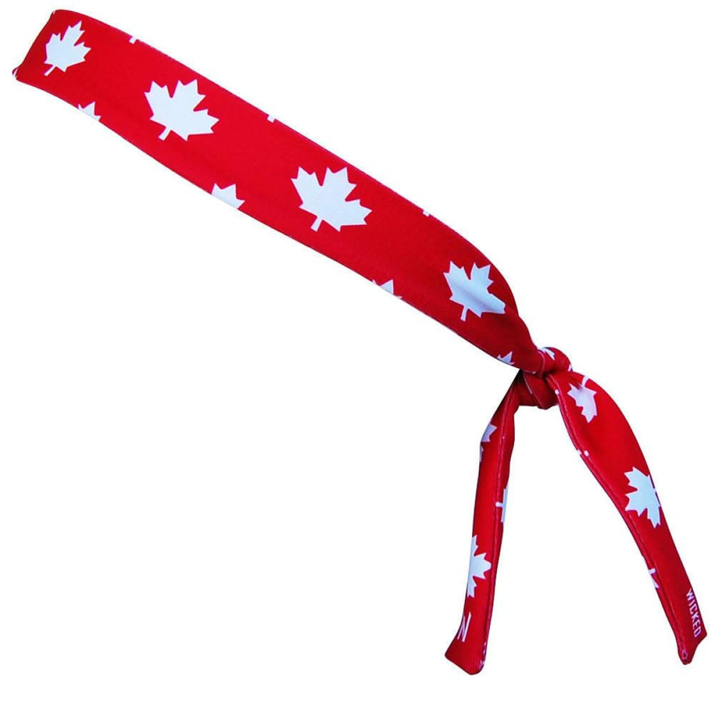 Canada Maple Leafs Red Skinny Headband - Red / One Size - Wicked Headbands