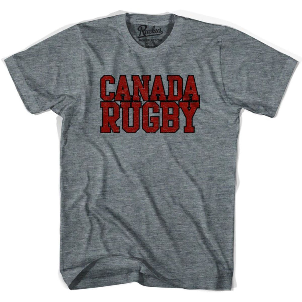 Canada Rugby Nations T-shirt - Athletic Grey / Adult Small - Rugby T-shirt