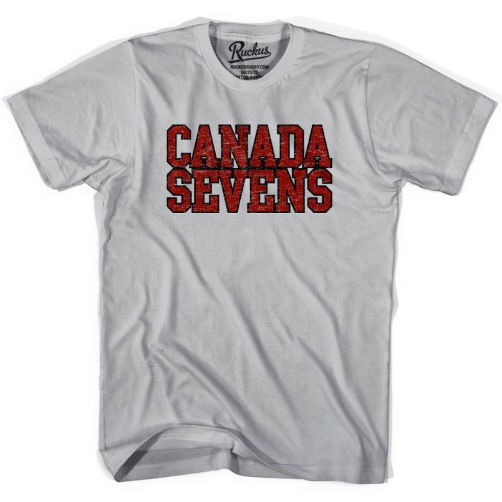 Canada Seven Rugby Nations T-shirt - Cool Grey / Youth X-Small - Rugby T-shirt