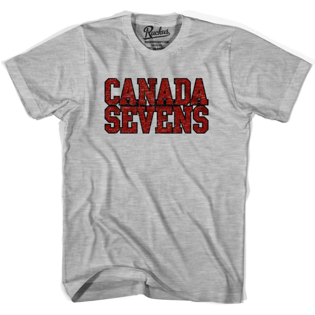 Canada Seven Rugby Nations T-shirt - Heather Grey / Youth X-Small - Rugby T-shirt