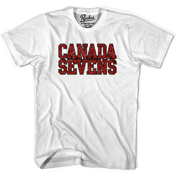 Canada Seven Rugby Nations T-shirt - White / Youth X-Small - Rugby T-shirt