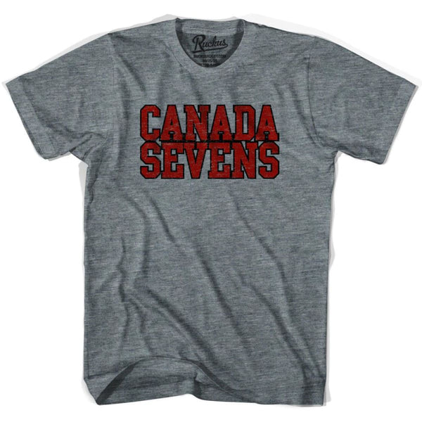 Canada Sevens Rugby T-shirt - Athletic Grey / Adult Small - Rugby T-shirt