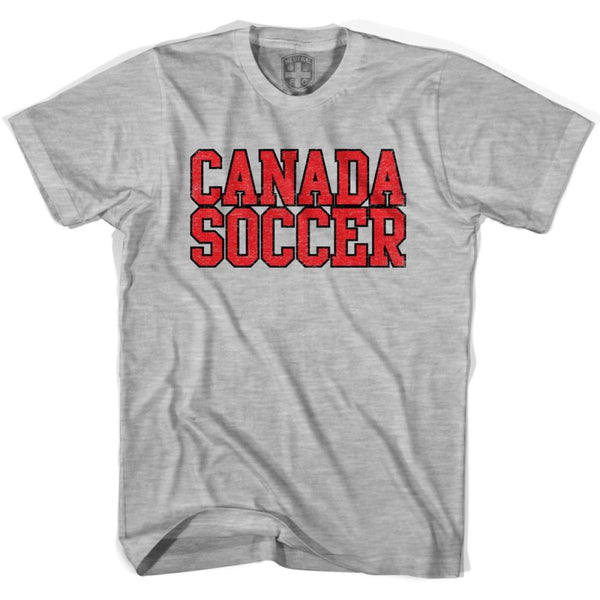 Canada Soccer Nations World Cup T-shirt - Grey Heather / Youth X-Small - Ultras Soccer T-shirts