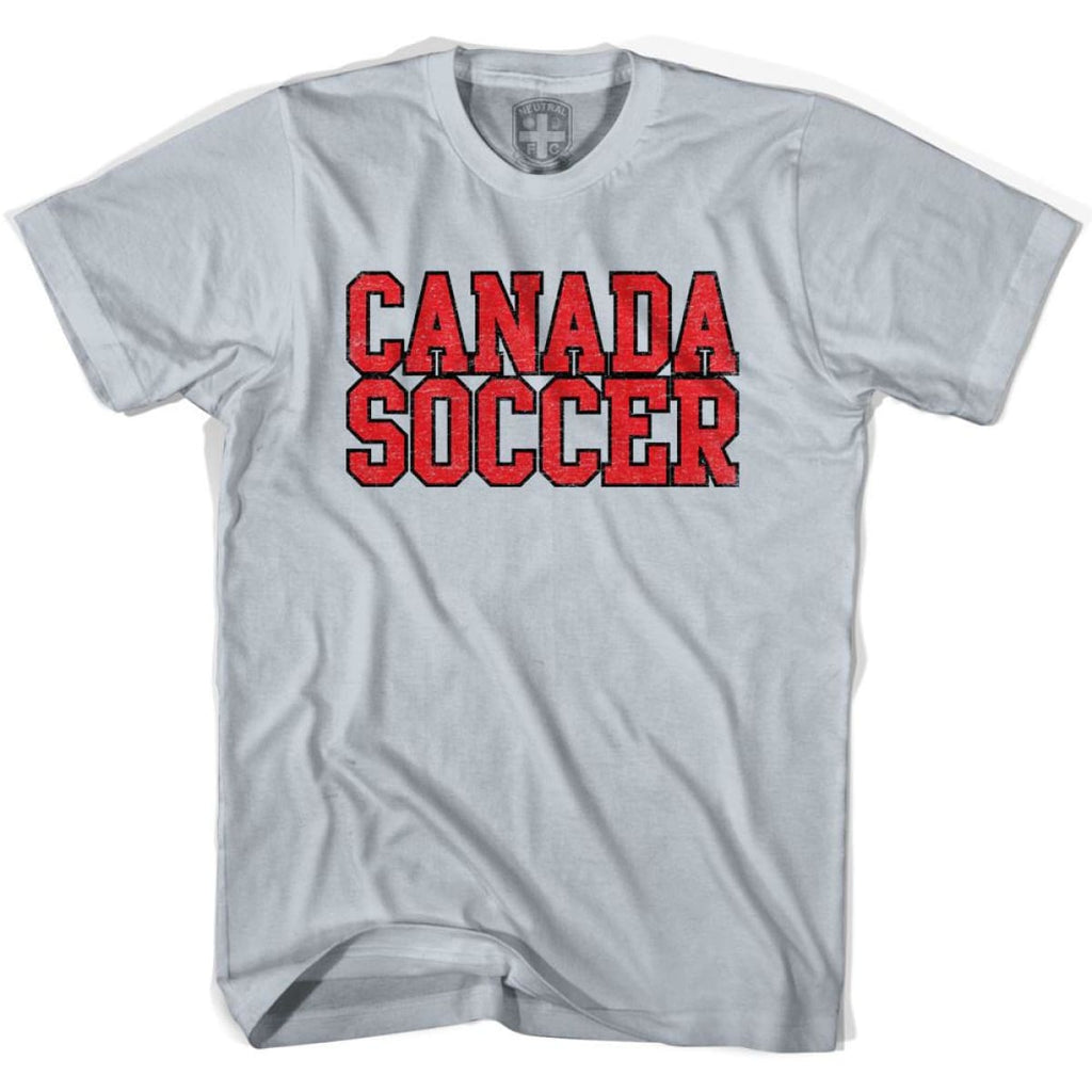 Canada Soccer Nations World Cup T-shirt - Silver / Youth X-Small - Ultras Soccer T-shirts
