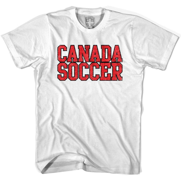 Canada Soccer Nations World Cup T-shirt - White / Youth X-Small - Ultras Soccer T-shirts