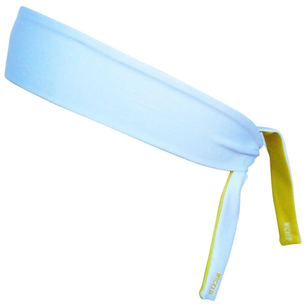 Canary & White Reversible Elastic Tie 2.25 Inch Headband