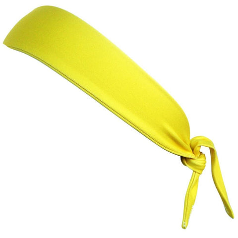 Canary Yellow Elastic Tie 2.25 Inch Headband - Wicked Headbands