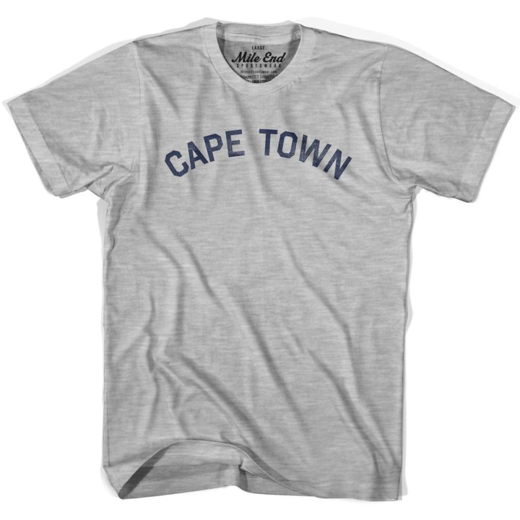Cape Town City Vintage T-shirt - Grey Heather / Youth X-Small - Mile End City