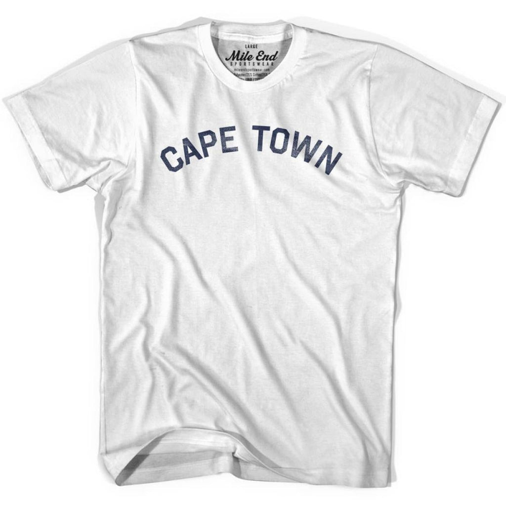 Cape Town City Vintage T-shirt - White / Youth X-Small - Mile End City