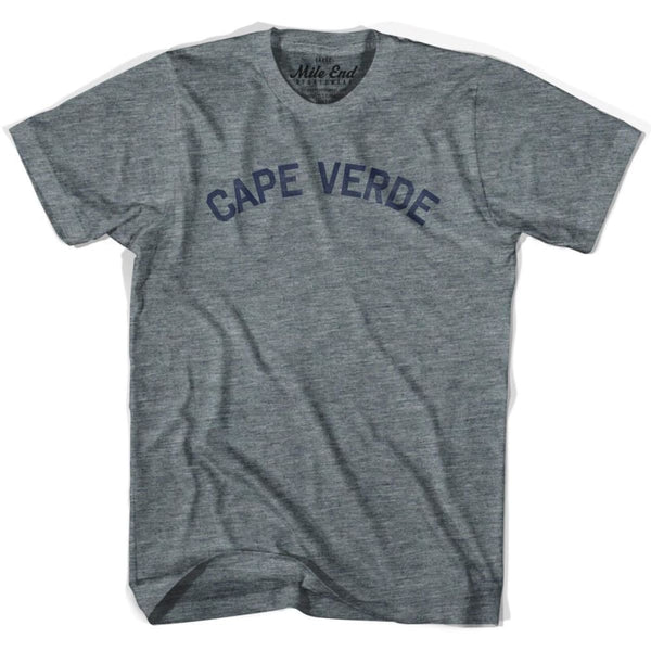 Cape Verde City Vintage T-shirt - Athletic Grey / Adult X-Small - Mile End City