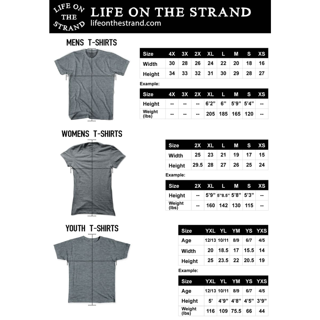 Carlsbad Anchor Life on the Strand V-neck T-shirt - Life on the Strand Anchor