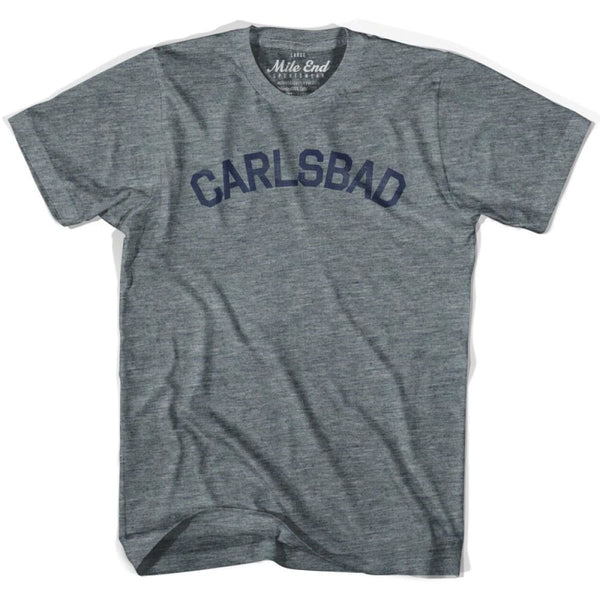 Carlsbad City Vintage T-shirt - Athletic Grey / Adult X-Small - Mile End City