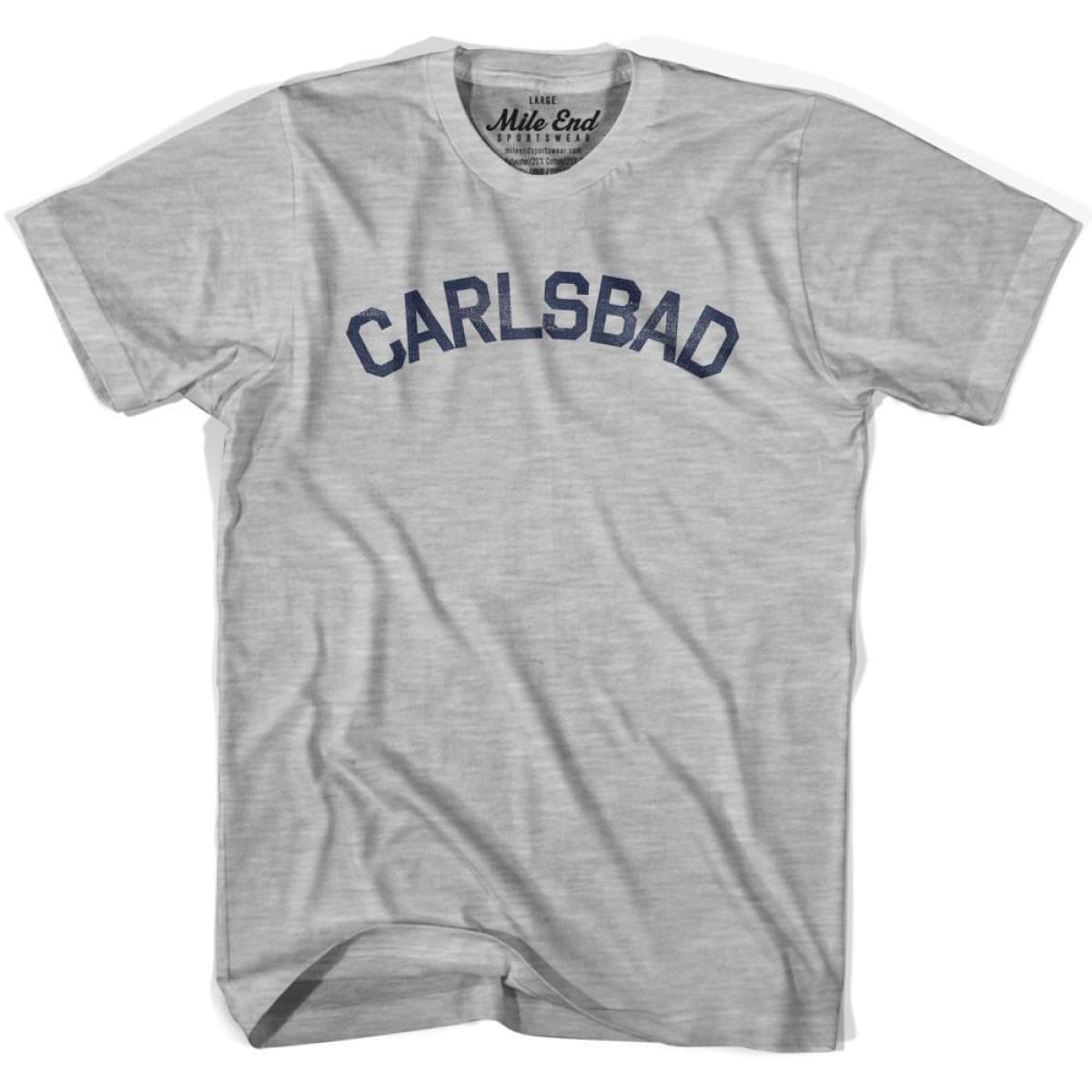 Carlsbad City Vintage T-shirt - Grey Heather / Youth X-Small - Mile End City