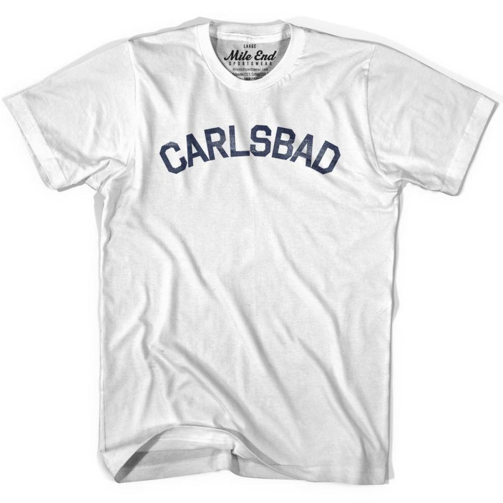 Carlsbad City Vintage T-shirt - White / Youth X-Small - Mile End City