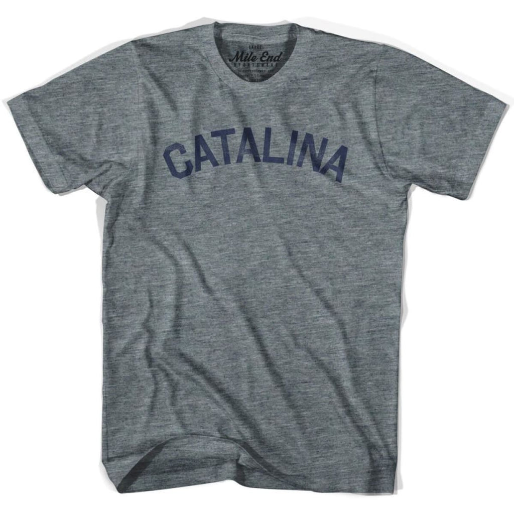 Catalina City Vintage T-shirt - Athletic Blue / Adult X-Small - Mile End City