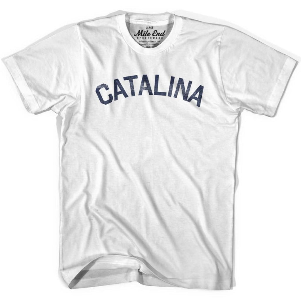 Catalina City Vintage T-shirt - Grey Heather / Youth X-Small - Mile End City
