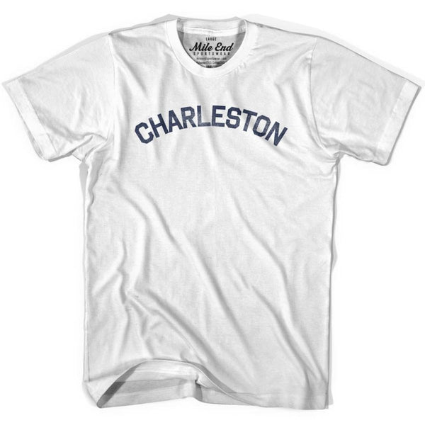 Charleston City Vintage T-shirt - White / Youth X-Small - Mile End City