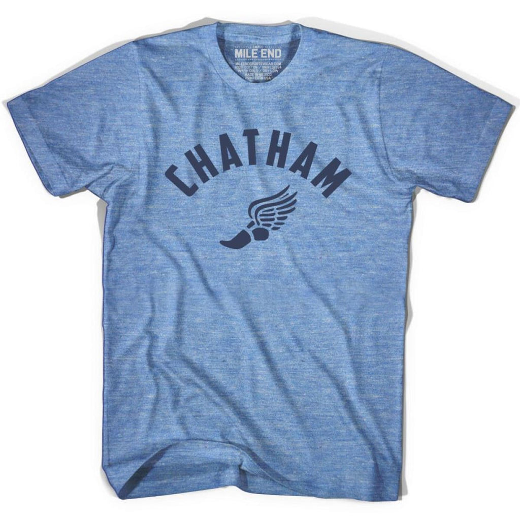 Chatham Track T-shirt - Athletic Blue / Adult X-Small - Mile End Track