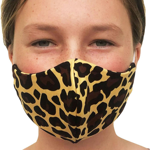Cheetah Lightweight Reversible Ear Loop Youth Face Mask Made In USA