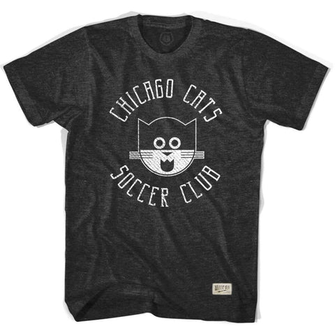 Chicago Cats Black Soccer T-shirt - Black / Adult Small - Ultras Vintage American Soccer T-shirts