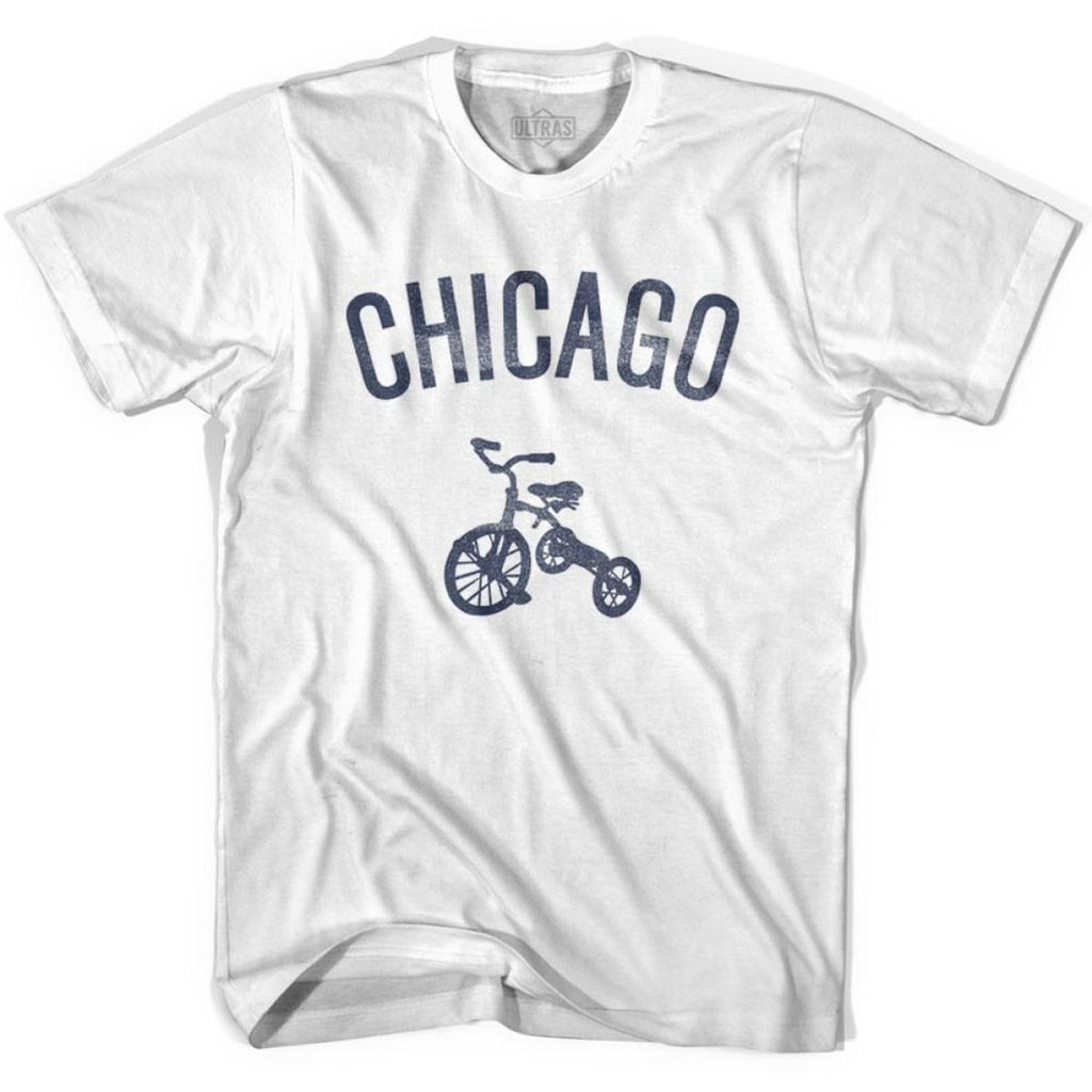 Chicago City Tricycle Womens Cotton T-shirt - Tricycle City