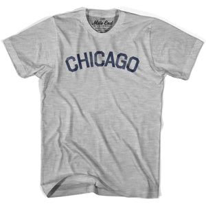Chicago City Vintage T-shirt - Grey Heather / Youth X-Small - Mile End City