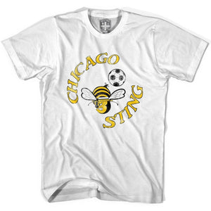 Chicago Sting Soccer T-shirt-Adult - White / Adult Small - Ultras Soccer T-shirts