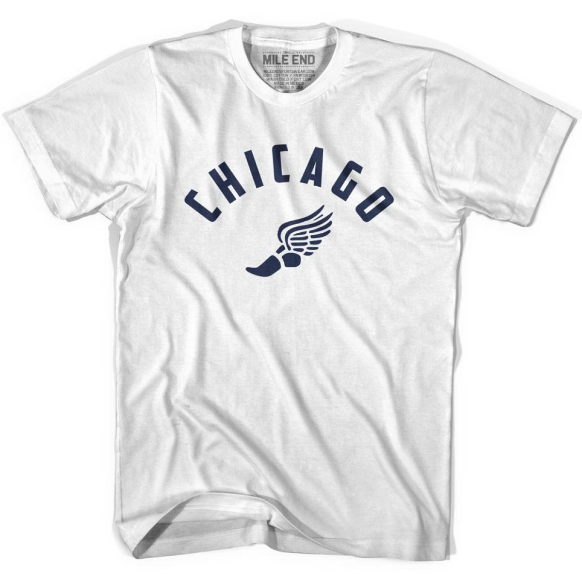 Chicago Track T-shirt - White / Youth X-Small - Mile End Track