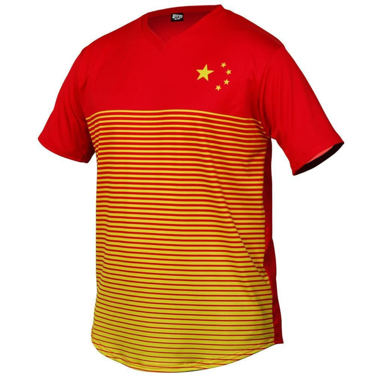 China Rise Soccer Jersey - Red / Toddler 1 / No - Ultras Country Soccer Jerseys