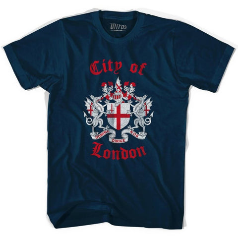 City of London Vintage T-shirt - Navy / Small - Ultras City T-shirts