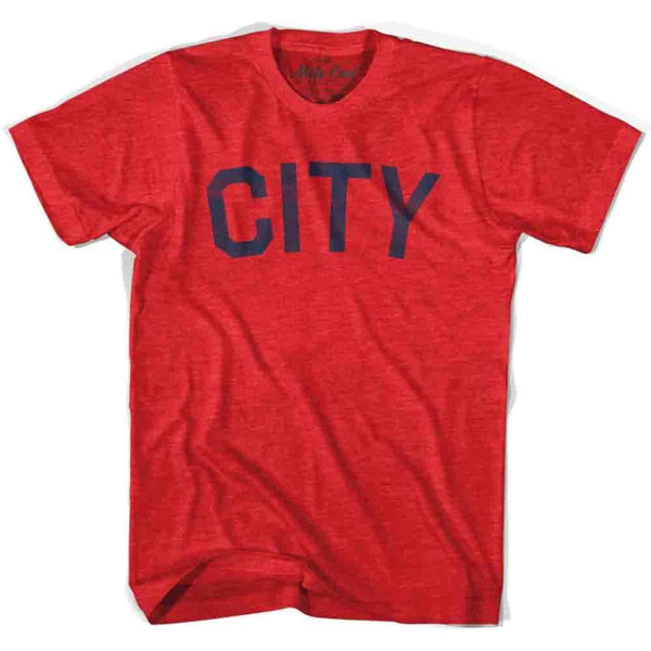 City Vintage T-shirt - Heather Red / Adult X-Small - Mile End City