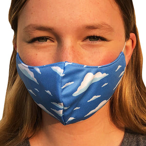 Cloud Lightweight Reversible Ear Loop Adult Face Mask Made In USA