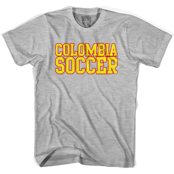 Colombia Soccer Nations World Cup T-shirt - Grey Heather / Youth X-Small - Ultras Soccer T-shirts