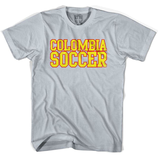 Colombia Soccer Nations World Cup T-shirt - Silver / Youth X-Small - Ultras Soccer T-shirts