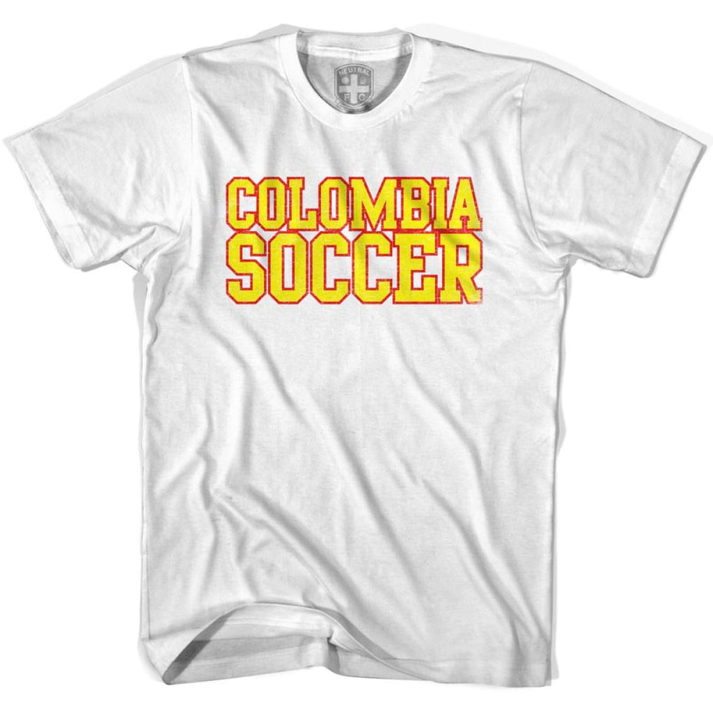 Colombia Soccer Nations World Cup T-shirt - White / Youth X-Small - Ultras Soccer T-shirts