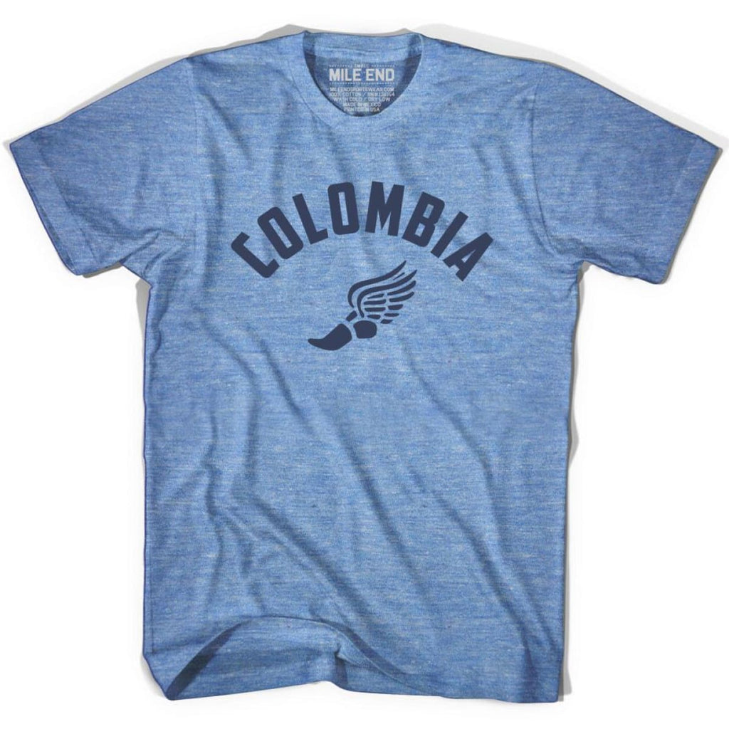 Colombia Track T-shirt - Athletic Blue / Adult X-Small - Mile End Track