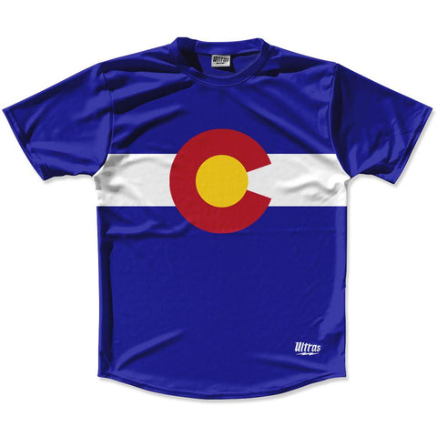 Ultras Colorado State Flag Running Cross Country Track Shirt Made In USA by Ultras