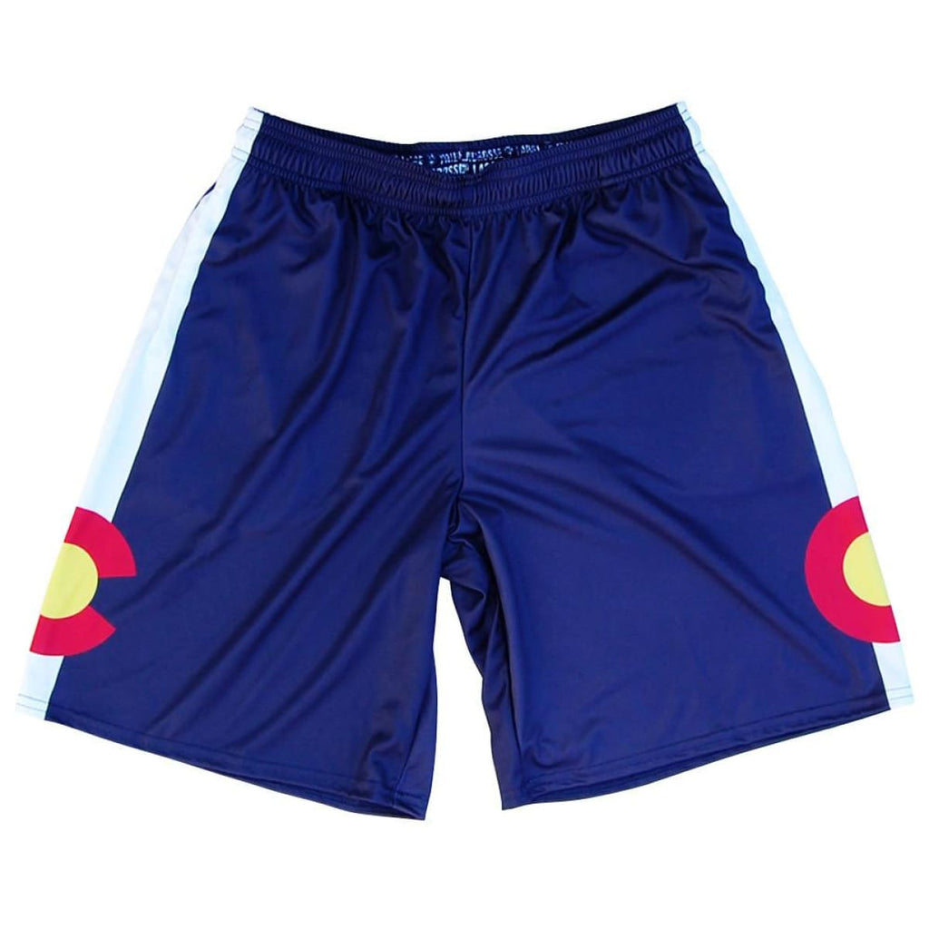 Colorado Flag Lacrosse Shorts - Navy / Youth X-Small - Tribe Lacrosse Shorts