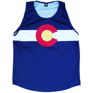 Colorado Flag Sport Tank - Red White Blue / Youth X-Small - Tank Top