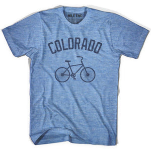 Colorado Vintage Bike T-shirt - Athletic Blue / Adult X-Small - Vintage Bike T-shirt