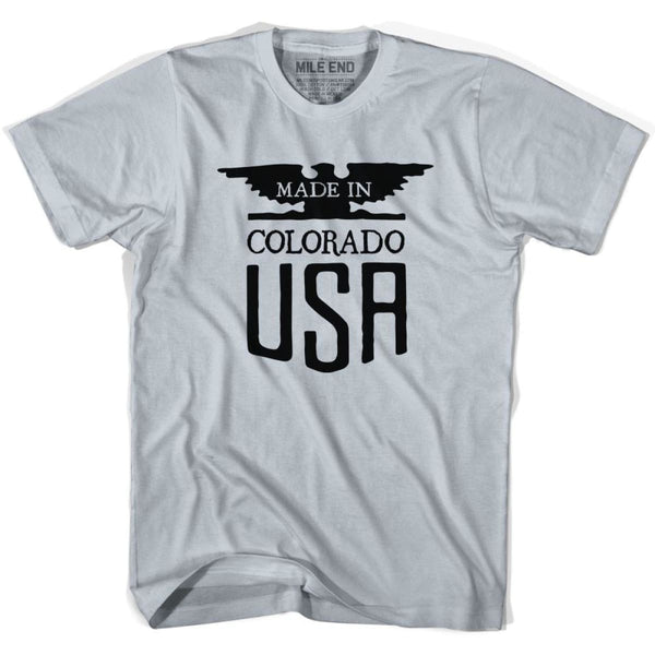 Colorado Vintage Eagle T-shirt - Cool Grey / Youth X-Small - Made in Eagle