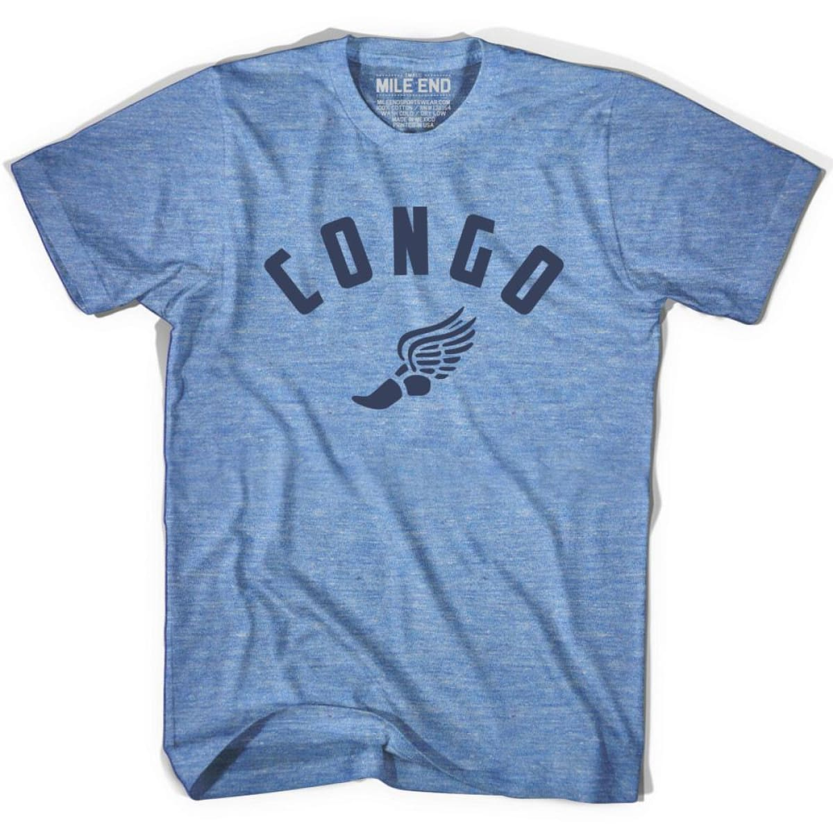 Congo Track T-shirt - Athletic Blue / Adult X-Small - Mile End Track