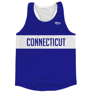 Connecticut Finish Line Running Tank Top Racerback Track and Cross Country Singlet Jersey - Navy / Adult X-Small - Running Top