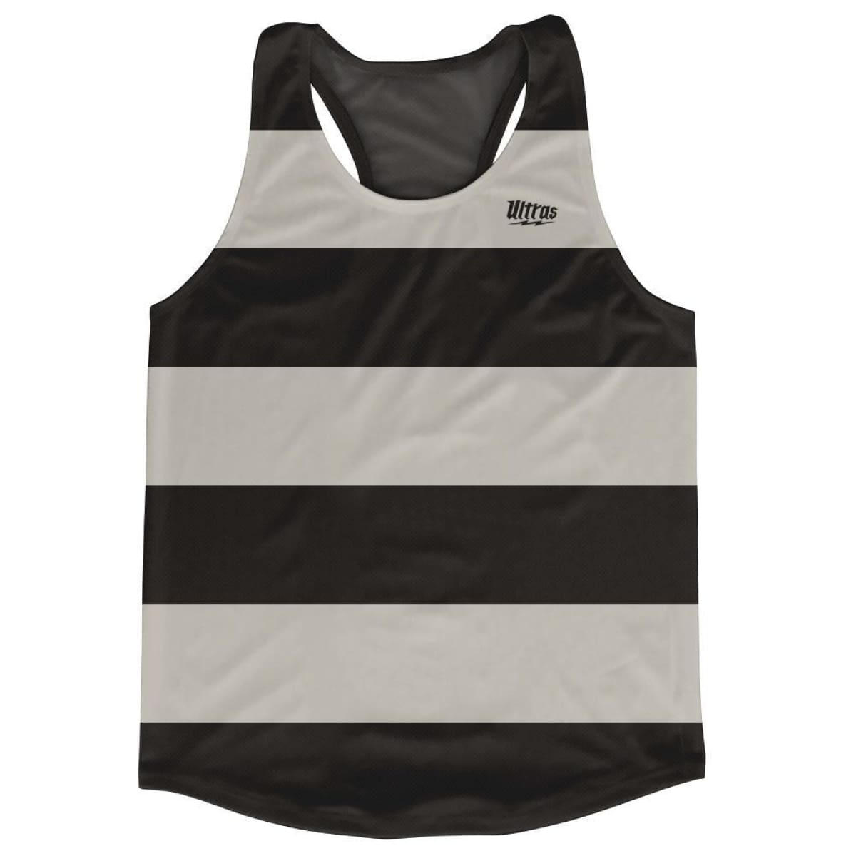 Cool Grey Striped Running Tank Top Racerback Track and Cross Country Singlet Jersey - Cool Grey / Adult X-Small - Running Top