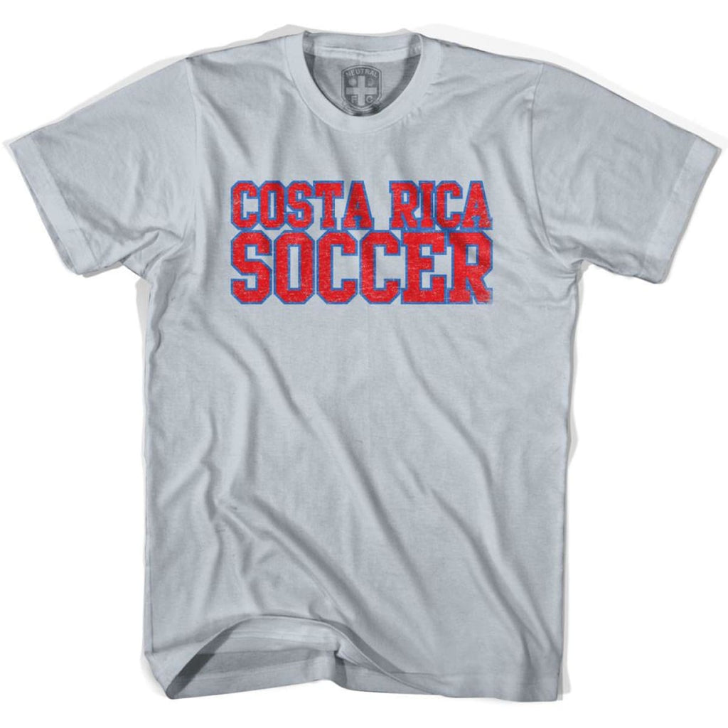 Costa Rica Soccer Nations World Cup T-shirt - Silver / Youth X-Small - Ultras Soccer T-shirts